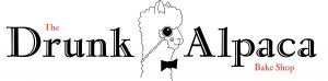 logo for the drunk alpaca test says the drunk alpaca and there is a cartoon a cute alpaca in the middle