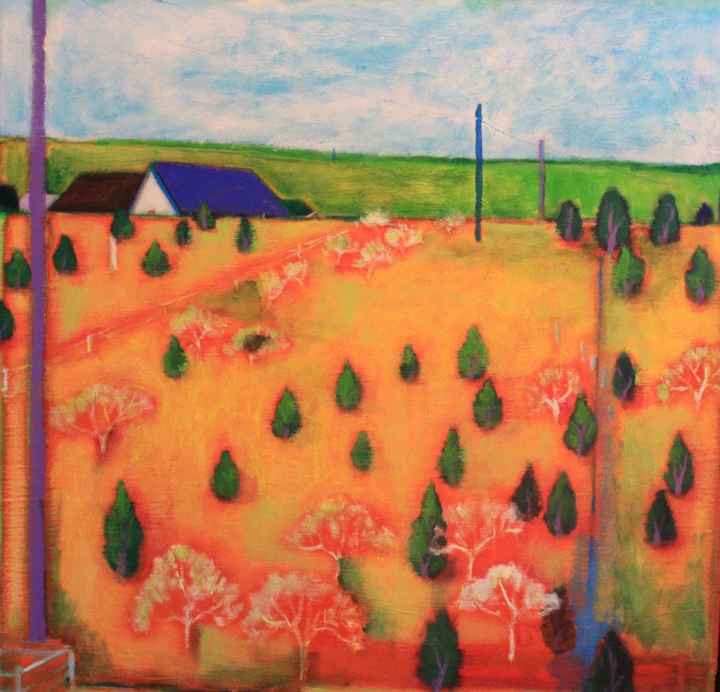 Christian Césari Tree Farm, 2015 Acrylic on canvas